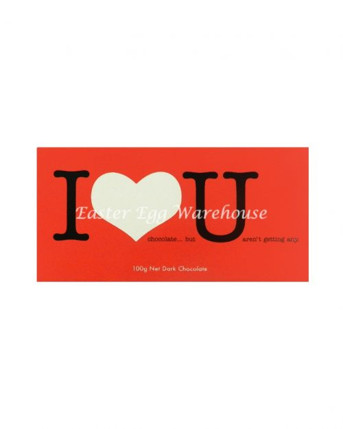 I Love U - Dark Chocolate Bar 100g