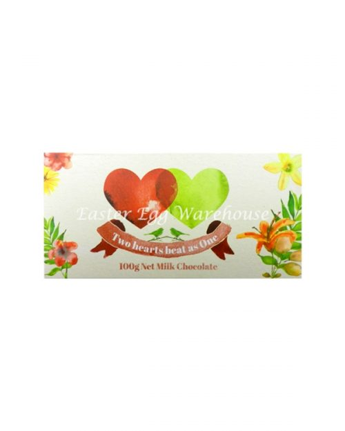 Two Hearts Beat As One - Milk Chocolate Bar 100g