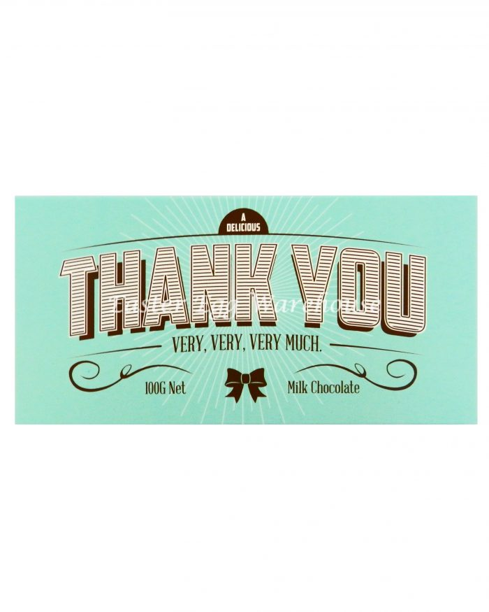 Thank You - Milk Chocolate Bar 100g