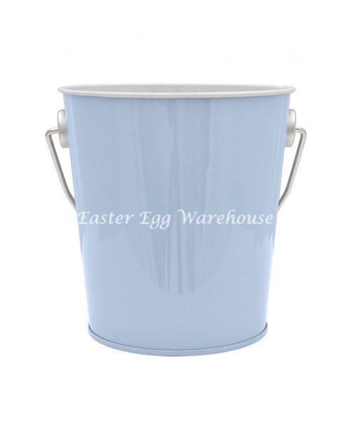 Light Blue Tin Bucket