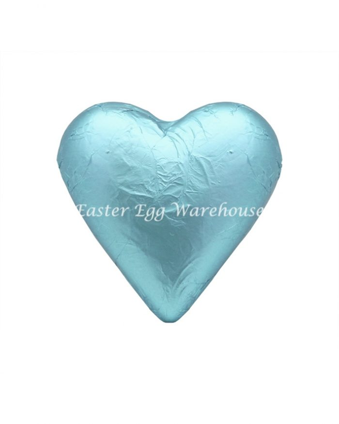 Milk Chocolate Solid Heart 100g - Light Blue