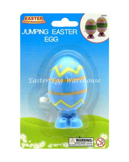 Wind Up Jumping Egg - Blue
