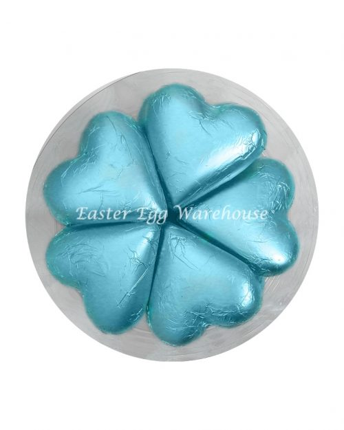 Light Blue Milk Chocolate Hearts - 30g x 30 Pieces