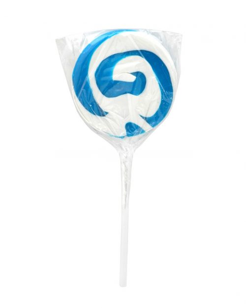 Blue & White Swirly Pop 50g