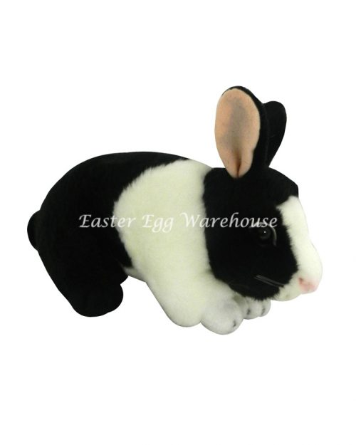 Flopsy Black & White Crouching Bunny