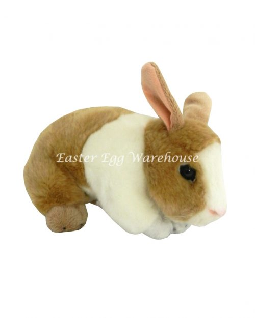 Mopsy Beige & White Crouching Bunny