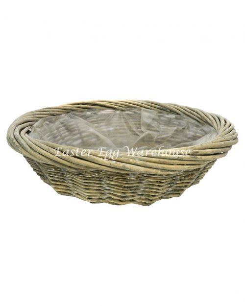 Large Rattan Round Basket No Handle