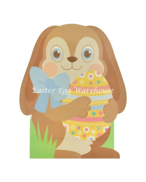 Medium Shaped Bag Rabbit with Bow Holding Egg