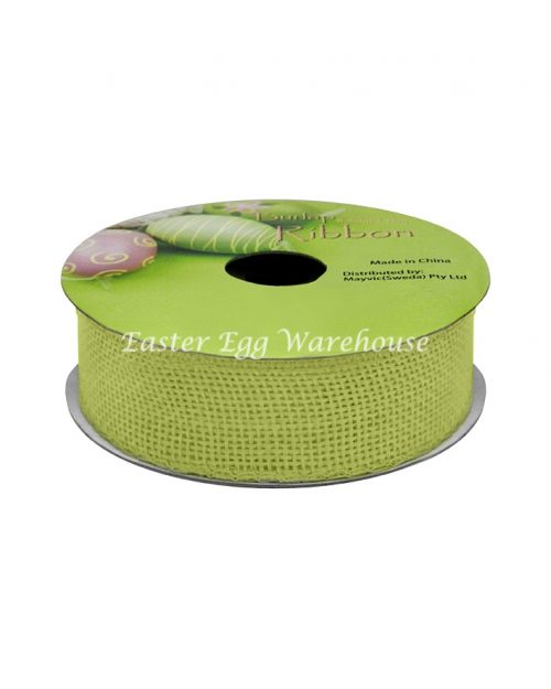 Green Burlap Ribbon 2.5cm x 2.75m