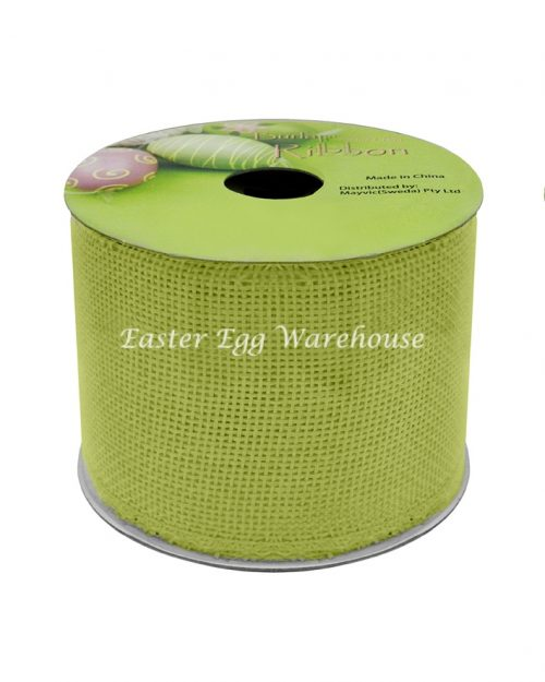 Green Burlap Ribbon 6.3cm x 2.75m