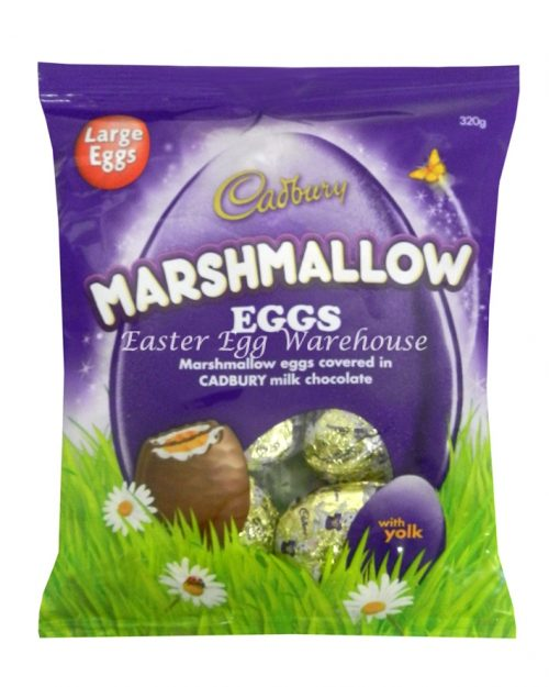 Cadbury Large Foil Marshmallow Eggs 320g Bag