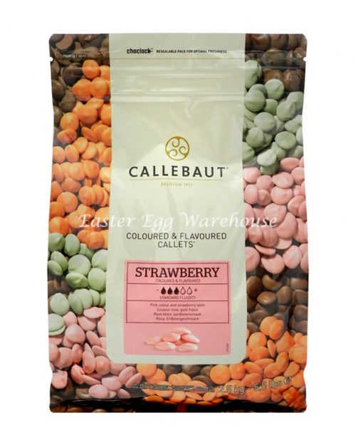 Callebaut Strawberry Coloured & Flavoured Callets 2.5kg