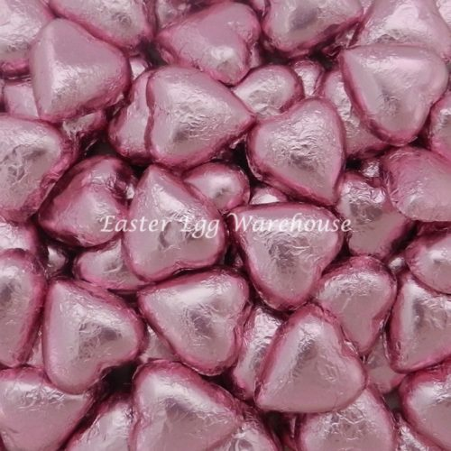 Milk Chocolate Hearts - Light Pink 1kg