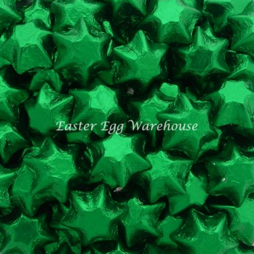 Milk Chocolate Stars - Green 500g