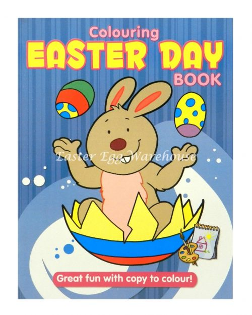 Colouring Easter Day Book Blue