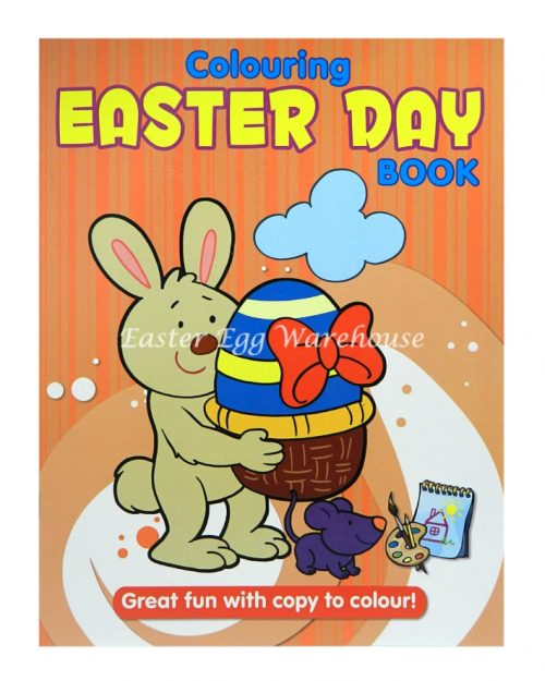 Colouring Easter Day Book Orange