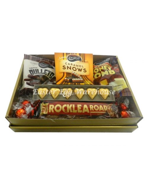 Caramel Snows Gold Tray