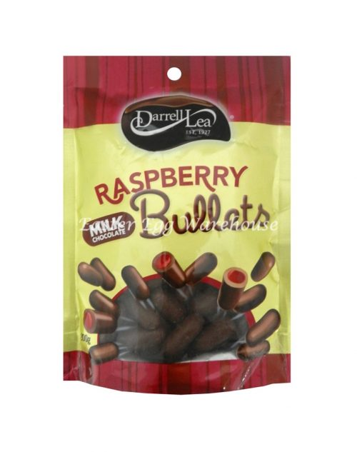 Darrell Lea Raspberry Milk Chocolate Liquorice Bullets 200g
