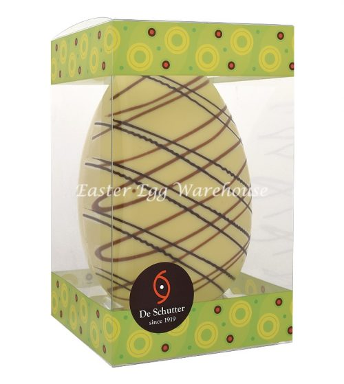 De Schutter Decorated Picasso White Egg 250g
