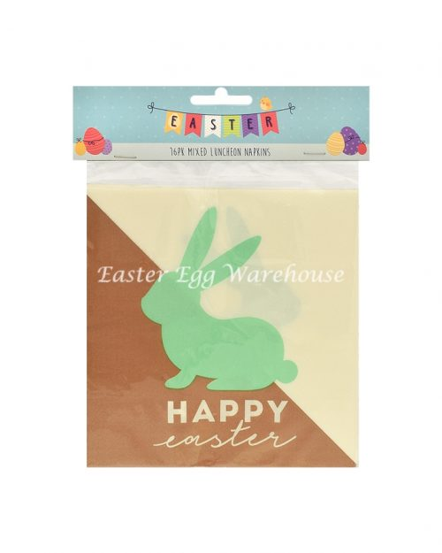 Easter 16pk Mixed Luncheon Napkins Brown