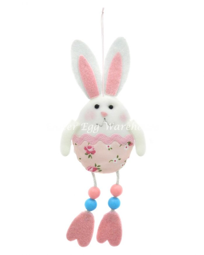 Easter Bunny Hanging/Long Legs Pink