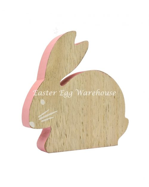 Pink Wooden Bunny Decoration