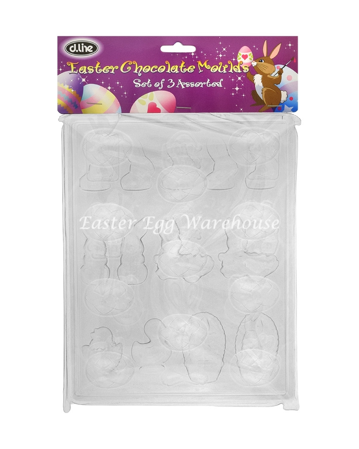 Easter Chocolate Assorted Moulds 3pk