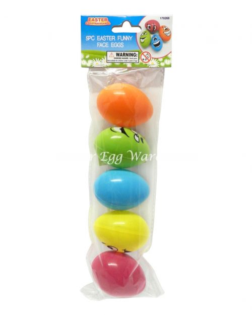 Funny Face Easter Eggs - 5pk