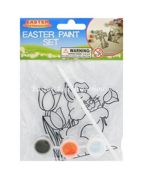 Easter Paint Set - Bunny and Flowers