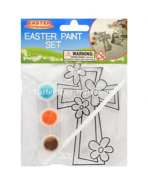 Easter Paint Set - Cross and Flowers