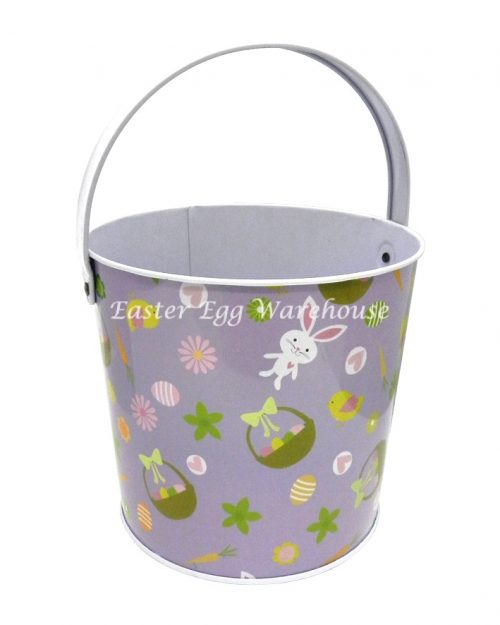 Easter Tin - Mauve with Bunny & Eggs