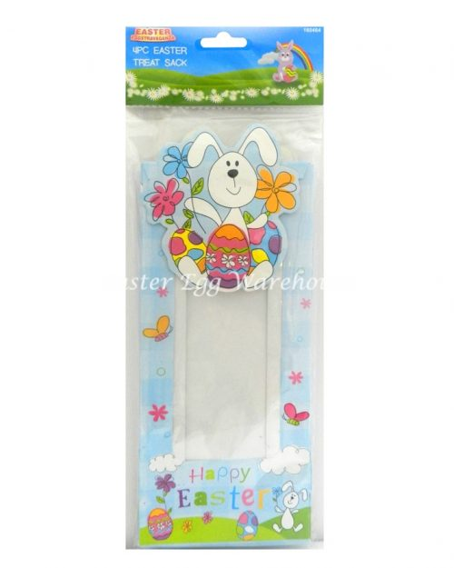 Easter Treat Sack 4pk - Blue