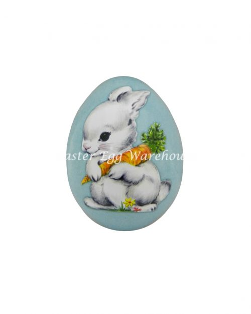 Mini Egg Shape Tin - Blue with Bunny