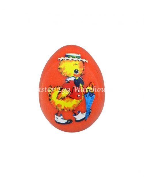 Mini Egg Shape Tin - Red with Chick