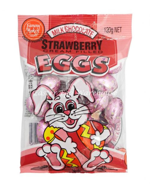 Milk Chocolate Strawberry Filled Mini Eggs 120g - Buy 1 Get 1 Free