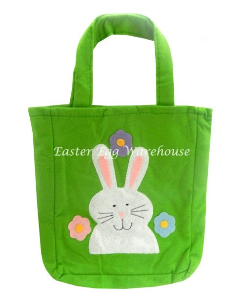 Felt Easter Bag - Green with Bunny