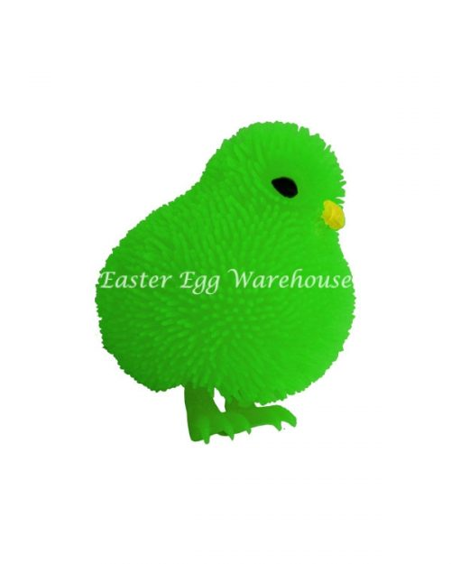 Flashing Cushy Chicken Green 7cm