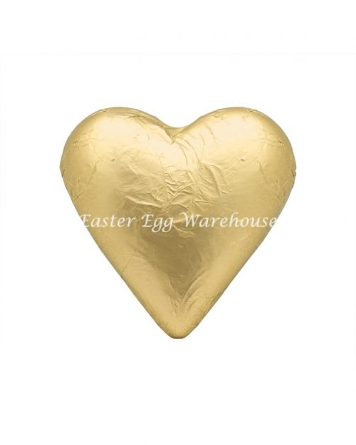 Milk Chocolate Solid Heart 100g - Gold