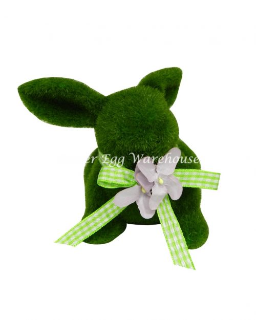Green Moss Rabbit Small 10.5cm with Ribbon