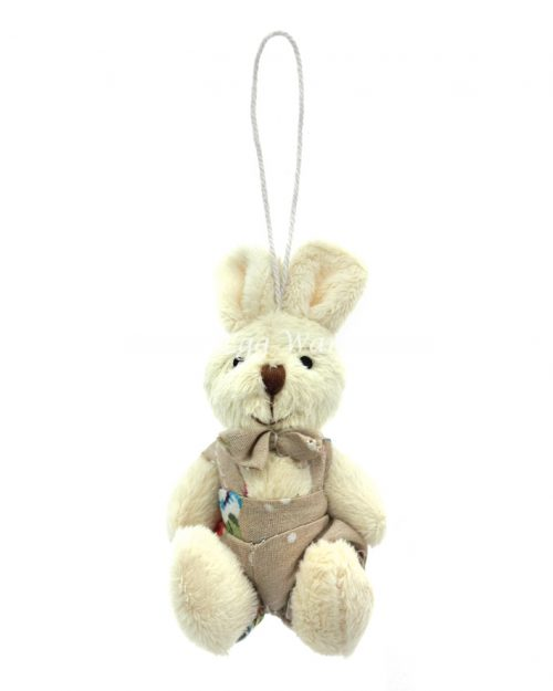 Boy Bunny Hanging Ornament Flower Overalls 9cm