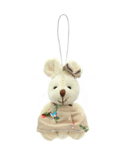 Girl Bunny Hanging Ornament Flower Dress 9cm