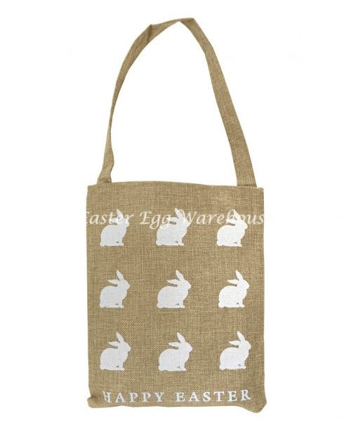 White Bunny Hessian Bag