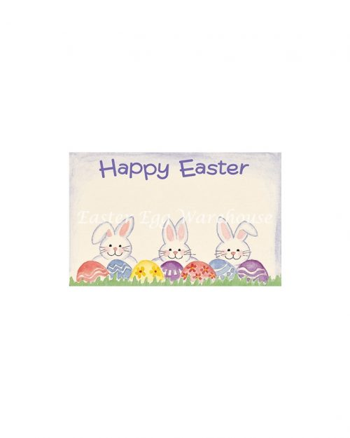 Happy Easter Gift Tag - Egg and Bunnies