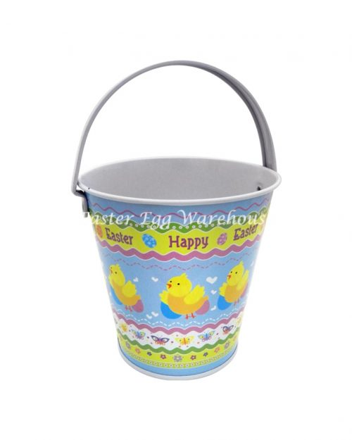 Small Easter Tin - Happy Easter Chicks Blue Tin