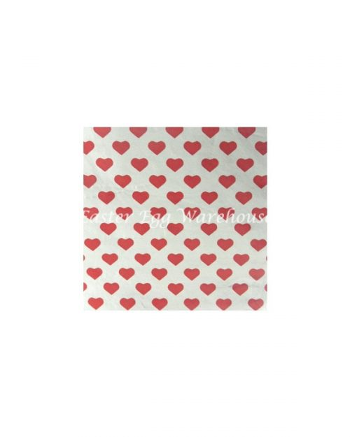Red Heart Foil Chocolate Wrappers 7.5cm x 7.5cm