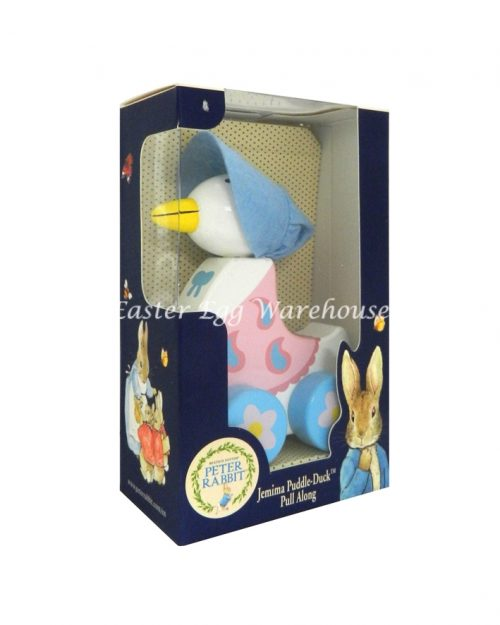 Jemima Puddleduck Wooden Toy Pull Along
