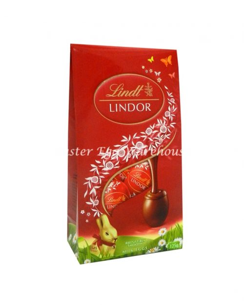 Lindt Lindor Milk Mini Eggs Pouch Bag 125g