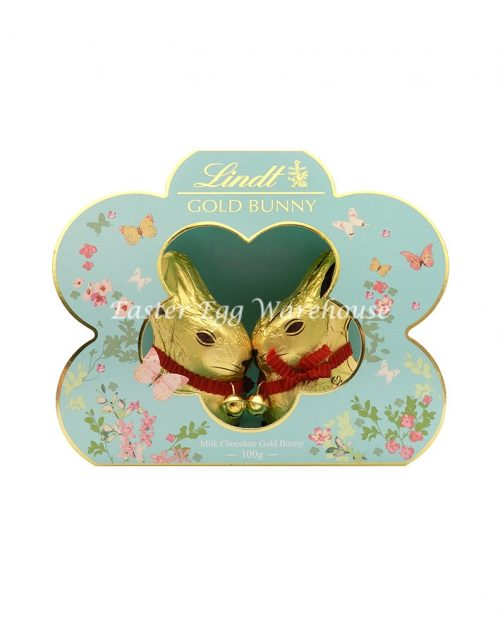 Lindt Twin Gold Bunnies in Flower 100g