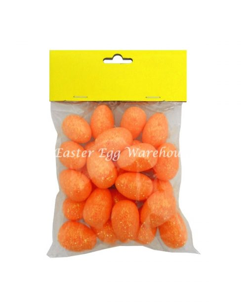 Orange Mini Glitter Easter Eggs 25pcs