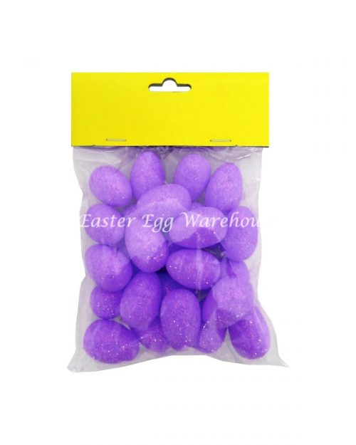 Purple Mini Glitter Easter Eggs 25pcs